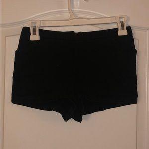 Black Highrise Shorts